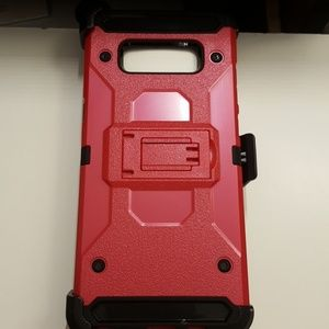 case clip for samsung note 8 color black-red new